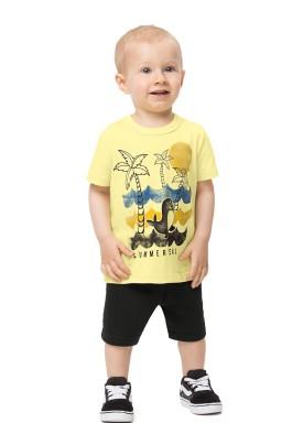 conjunto bebe infantil masculino summer amarelo alenice 41130 1