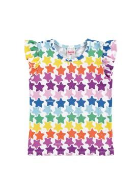 blusa infantil feminina estrelas branco alenice 44504