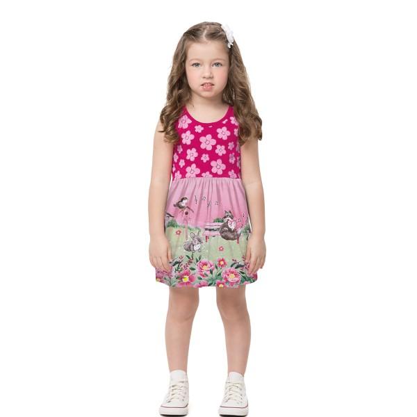 vestido infantil feminino jardim pink alenice 44507 1