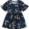 vestido infantil feminino floresta marinho alenice 44556