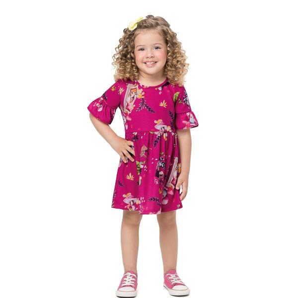 vestido infantil feminino floresta pink alenice 44556 1