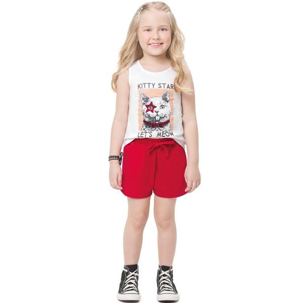conjunto infantil feminino kitty branco alenice 47167 1