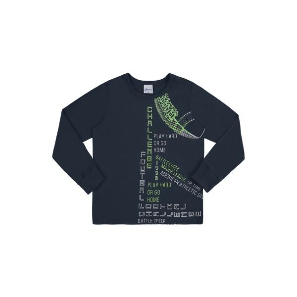 camiseta manga longa infantil masculina challenge petroleo alenice 47150