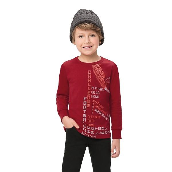 camiseta manga longa infantil masculina challenge vermelho alenice 47150 1
