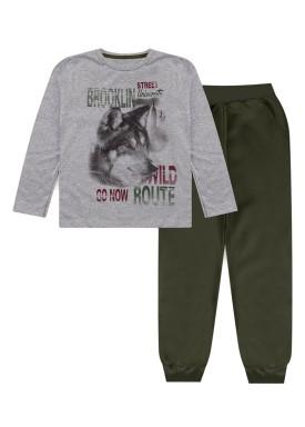 conjunto manga longa infantil masculino brooklyn mescla kiiwi kids 1