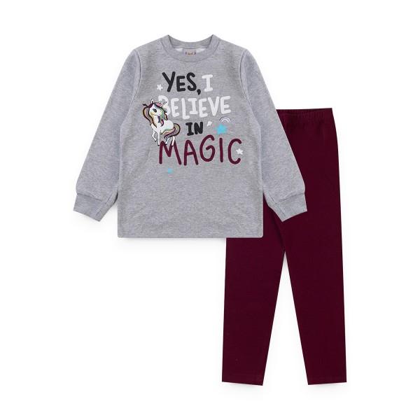 conjunto moletom infantil feminino magic mescla kiiwi kids 1