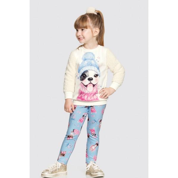 conjunto pelo infantil feminino dog azul alakazoo 62624 1