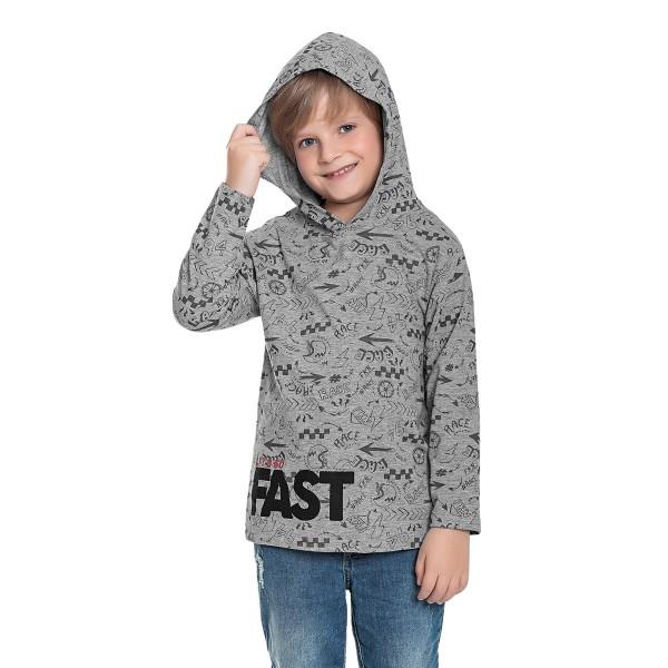 camiseta manga longa capuz infantil masculina fast mescla fakini 1259 1