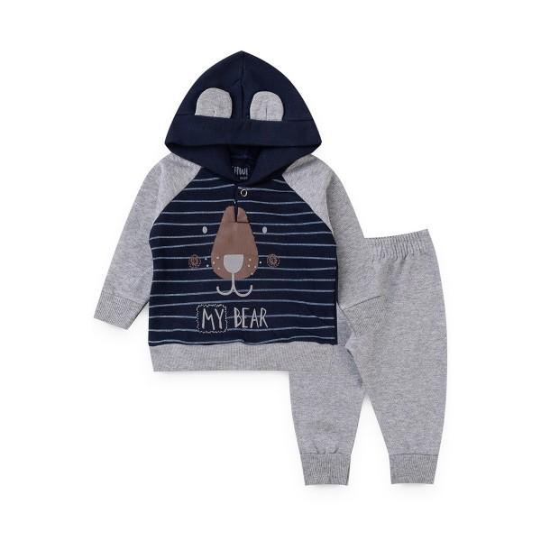 conjunto moletom bebe masculino my bear marinho kiiwi kids 1