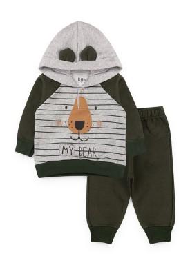 conjunto moletom bebe masculino my bear mescla kiiwi kids 1