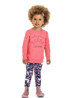 conjunto moletom infantil feminino princess rosa marlan 22542 1