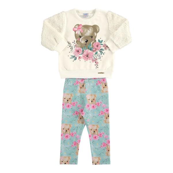 conjunto moletom pelo bebe feminino ursinho marfim marlan 20410 1
