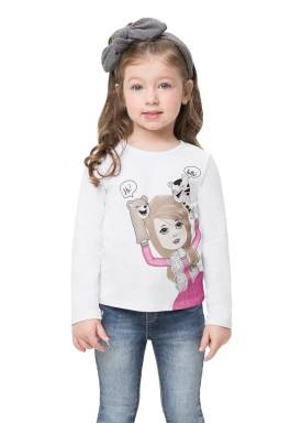 blusa manga longa infantil feminina hello branco alenice 44517 1