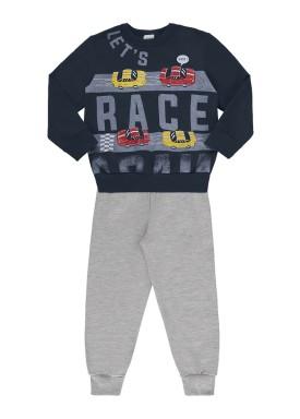 conjunto moletom infantil masculino race marinho alenice 44471 1