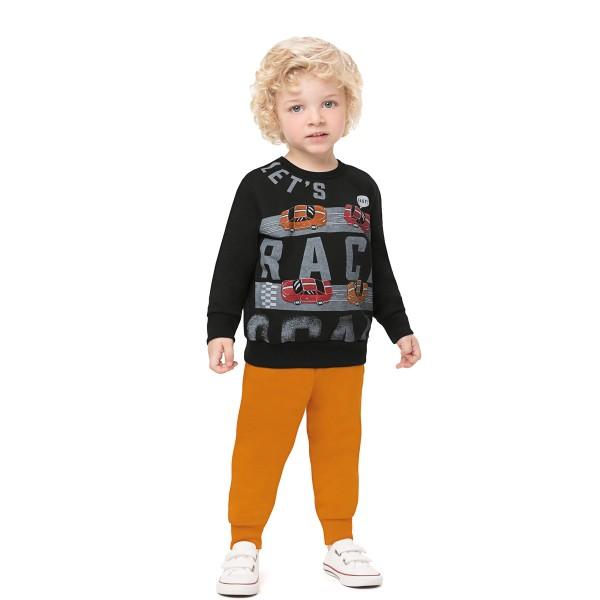 conjunto moletom infantil masculino race preto alenice 44471 1