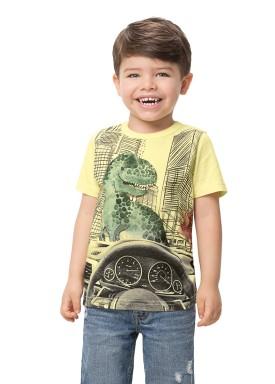 camiseta manga curta infantil masculina dinos amarelo alenice 44546 1