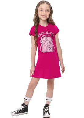 vestido infantil feminino music pink alenice 47208 1
