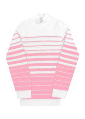 blusa la infantil feminina listras rosa remyro 0902 1