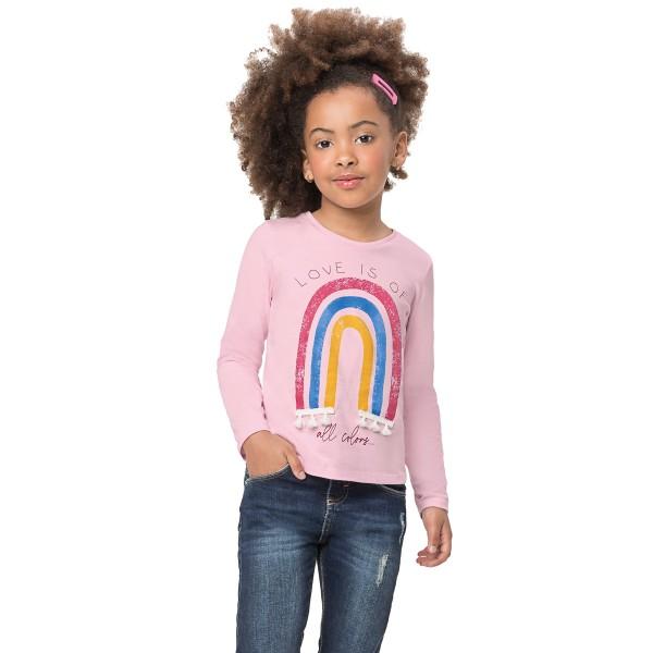 blusa manga longa infantil feminina love rosa alenice 47180 1