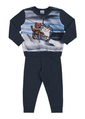 conjunto moletom bebe infantil masculino esqui marinho alenice 41128 1