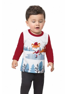 camiseta manga longa bebe masculina patinacao vermelho alenice 41123 1