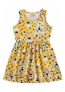vestido infantil feminino oncas amarelo alenice 44552jpg