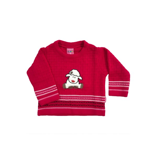 sueter trico bebe feminino ovelha pink remyro 1015