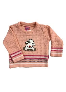 sueter trico bebe feminino ovelha salmao remyro 1015