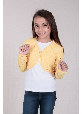 bolero trico bebe feminino amarelo remyro 1226 1