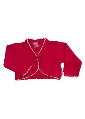 bolero trico bebe feminino pink remyro 1022