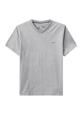 camiseta gola v meia malha basica juvenil masculina mescla hangar33 73607