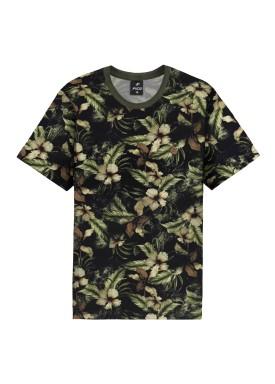 camiseta meia malha estampada juvenil verde fico 68431