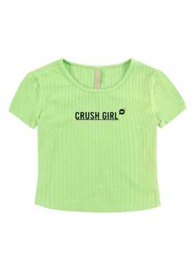 blusa malha canelada juvenil feminina crush girl verde lunender hits 46757