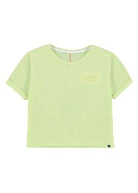 blusa malha view flex juvenil feminina amarelo lunender hits 46762