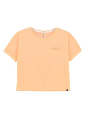 blusa malha view flex juvenil feminina laranja lunender hits 46762