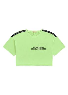 blusa meia malha juvenil feminina offline verde lunender hits 46759