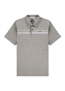 camisa polo meia malha juvenil mescla fico 48603