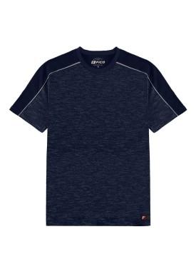 camiseta malha mouline juvenil marinho fico 48596