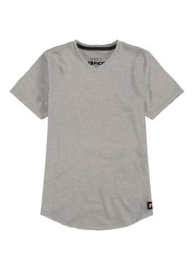 camiseta meia malha basica infantil masculina mescla fico 48566