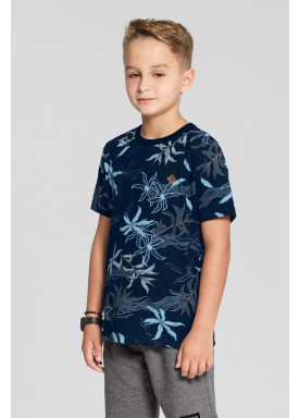 camiseta meia malha estampada infantil masculina marinho fico 48565 1