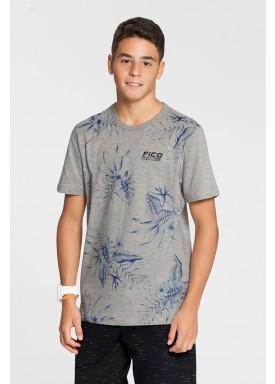 camiseta meia malha estampada juvenil masculina mescla fico 48589 1