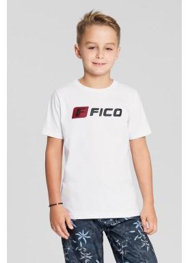 camiseta meia malha infantil masculina branco fico 48563 1