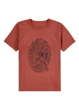 camiseta meia malha infantil masculina surf vermelho fico 48567