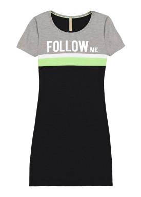 vestido malha cotton thirty juvenil feminino follow me mescla lunender hits 46772 1