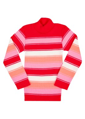 blusa la infantil feminina listrada pink remyro 0902 1