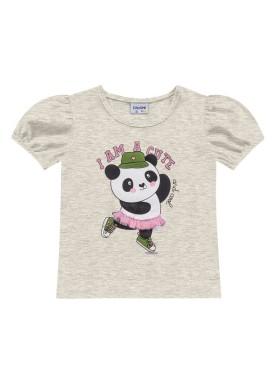 blusa meia malha infantil feminino cute mescla fakini 2503