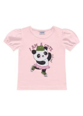 blusa meia malha infantil feminino cute rosa fakini 2503