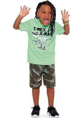conjunto camiseta e bermuda infantil juvenil masculino xray verde fakini 2272 1