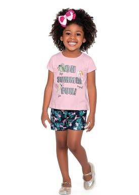 conjunto meia malha infantil feminino summer rosa fakini forfun 2163 1