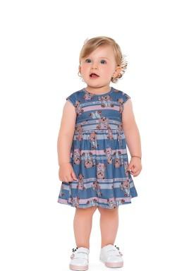 vestido poliester bebe feminino estampado azul fakini 2005 1
